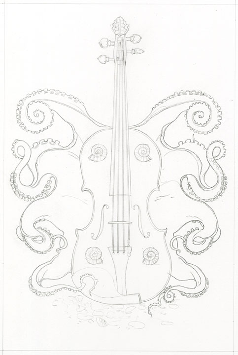 Bad Tattoos - Skull playing violin. Leave Comment